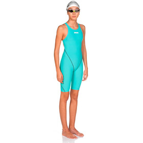 arena Powerskin St 2.0 Short Leg Open Full Body Swimsuit Meisjes, aquamarine